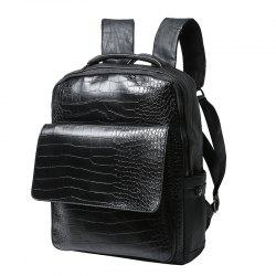 Crocodile Pattern Backpack Korean Men's Rucksack Outdoor Travel Knapsack Unisex Bag -