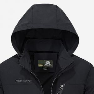 Men's Trench Jacket Casual Windproof Camping Jacket -