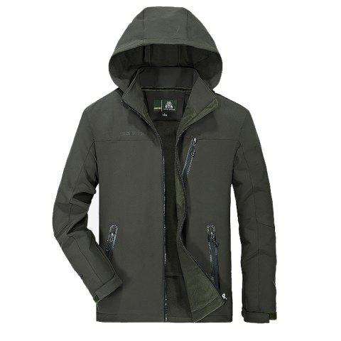 Hot Men's Trench Jacket Casual Windproof Camping Jacket