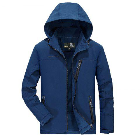Store Men's Trench Jacket Casual Windproof Camping Jacket