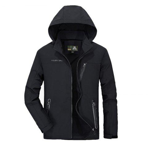 Unique Men's Trench Jacket Casual Windproof Camping Jacket