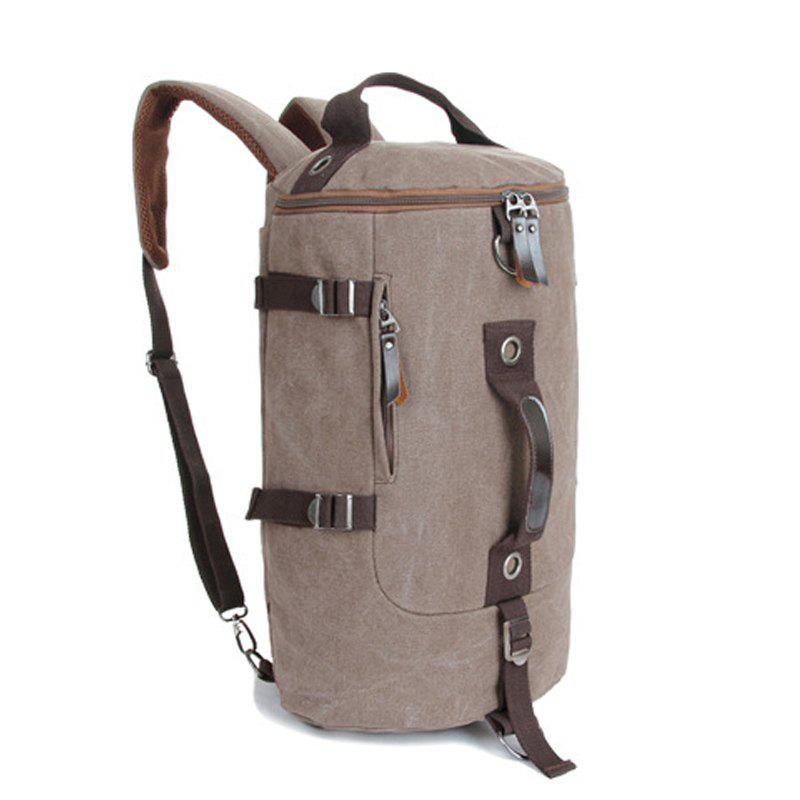New Multifunctional Canvas Shoulder Bag Portable Travel Bag Messenger Casual  Cackpack Drum Backpack Computer Bag school bag