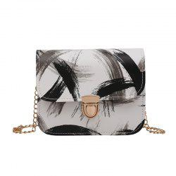 Trendy Graffiti Chain Shoulder Bag Fashion Messenger Small Square Package -