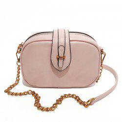 Shoulder Messenger Handbag Oval Buckle Exquisite Wild Retro Casual Small Bag -