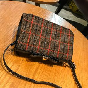 Cute Square Plaid Students Small Square Female Fashion Shoulder Bag Messenger Bag Women -