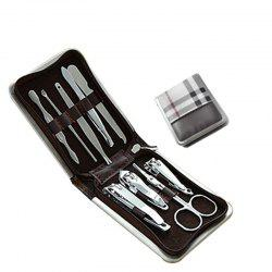 9PCS Stainless Steel Nail Clippers Manicure Tool Set -