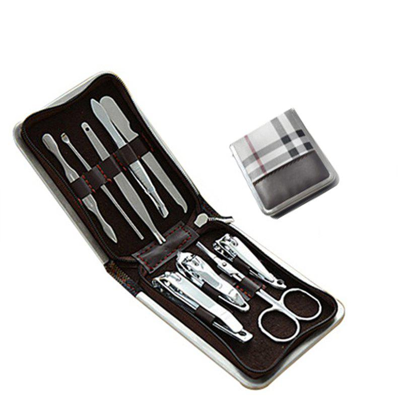 Cheap 9PCS Stainless Steel Nail Clippers Manicure Tool Set