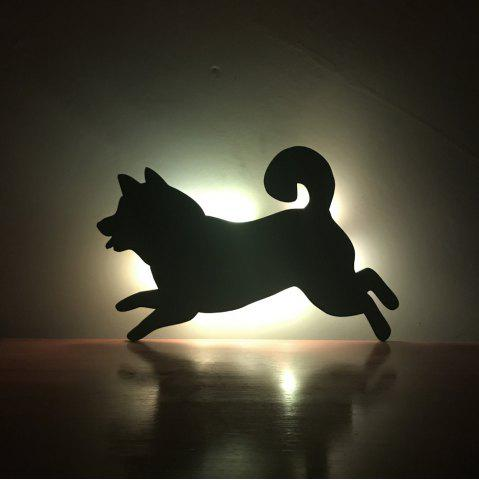 Fancy Colorful Remote Running Dog Shadow Projection Lamp LED  Night Light