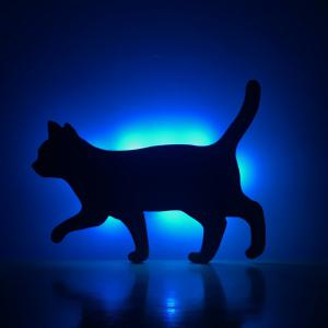 Colorful Remote Walk The Cat Shadow Projection Lamp LED  Night Light -