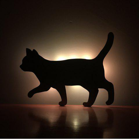 New Colorful Remote Walk The Cat Shadow Projection Lamp LED  Night Light