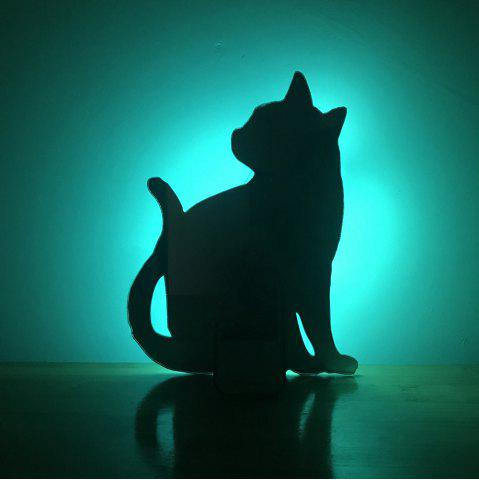 Best Colorful Remote  Cat Shadow Projection Lamp LED  Night Light