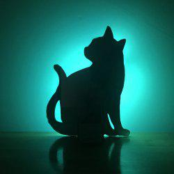 Colorful Remote  Cat Shadow Projection Lamp LED  Night Light -