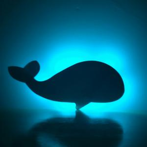 Colorful Remote The Whale Shadow Projection Lamp LED  Night Light -