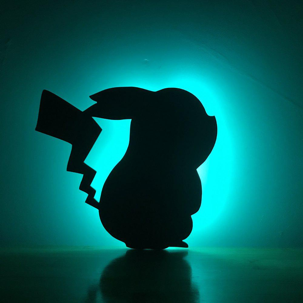 Shop Colorful Remote Pikachu Shadow Projection Lamp LED  Night Light