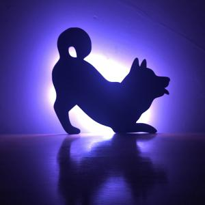 Colorful Remote Dog Shadow Projection Lamp LED  Night Light -