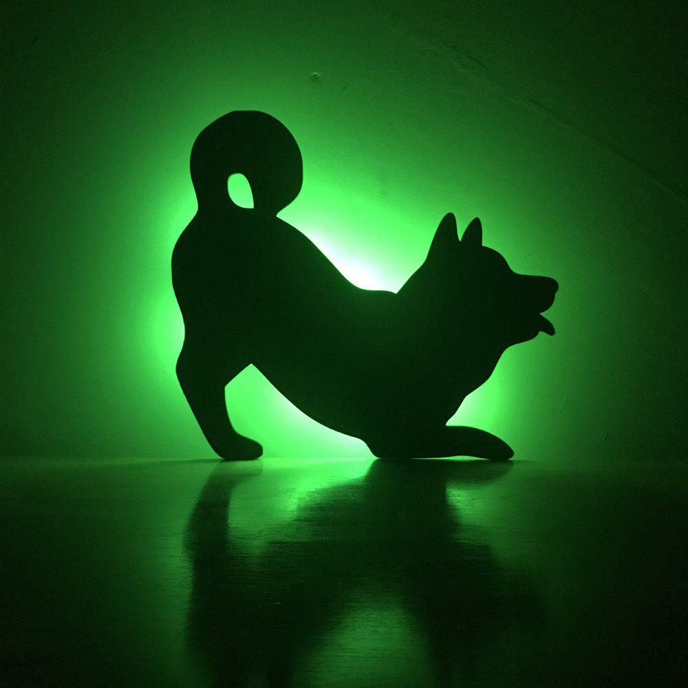 Unique Colorful Remote Dog Shadow Projection Lamp LED  Night Light