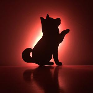 Color Remote Control Beckon Dog Shadow Projection lamp LED Small Night Light -