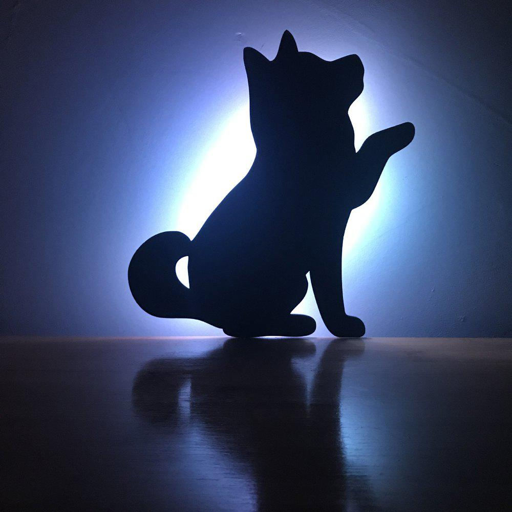 Best Color Remote Control Beckon Dog Shadow Projection lamp LED Small Night Light
