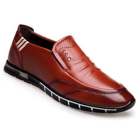 Fancy Outdoor Leisure Leather Shoes