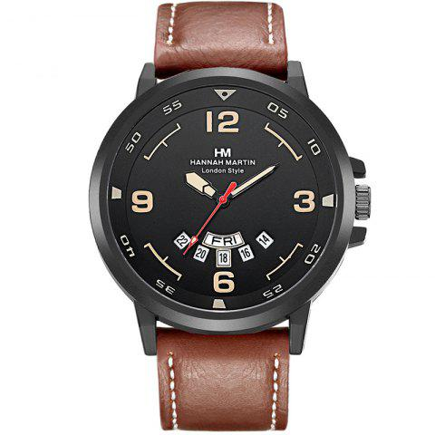 Latest Men Sports Army Leather Band with Calendar Fashion Watch