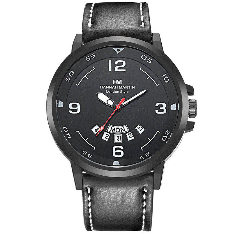 Hot Men Sports Army Leather Band with Calendar Fashion Watch