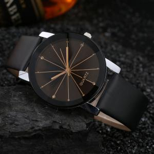 Men Trendy Simple Design Waterproof Watch -