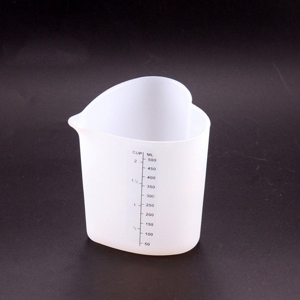 1 Pc Loving Heart Shape Thickening Soft Silicone Measuring Cup Heat Resistant Baking Tools