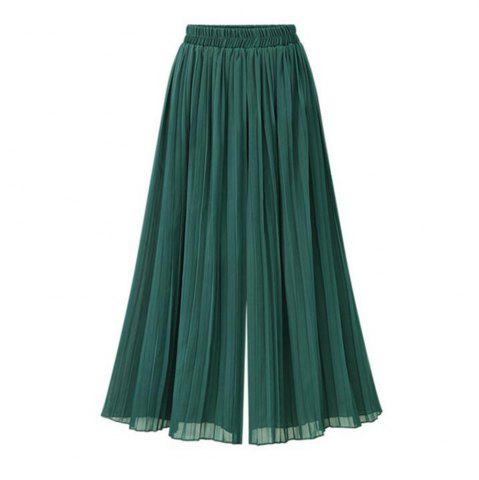 Discount 201 Summer New Plus Size Women Loose Chiffon Wide Leg Pants