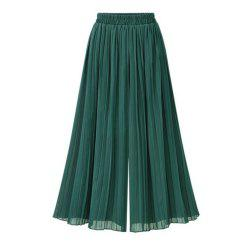 201 Summer New Plus Size Women Loose Chiffon Wide Leg Pants -