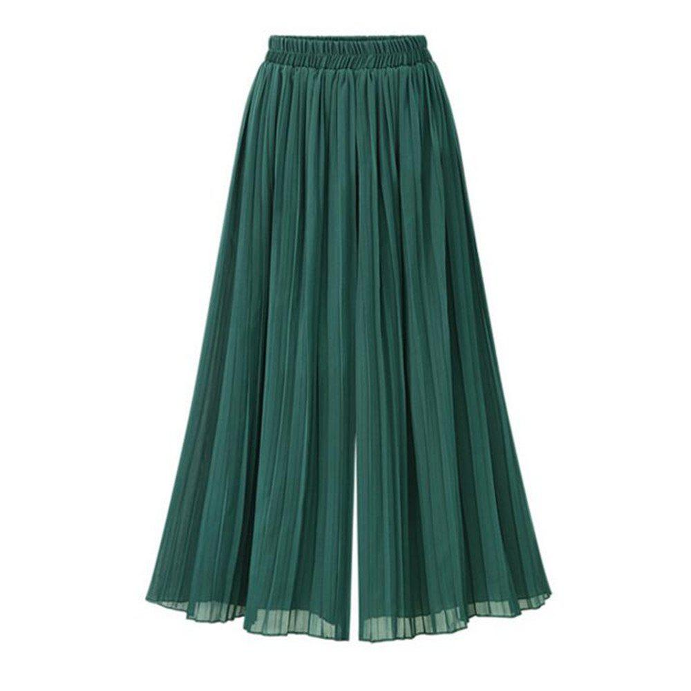 Shops Summer New Plus Size Women's Loose Chiffon Wide Leg Pants