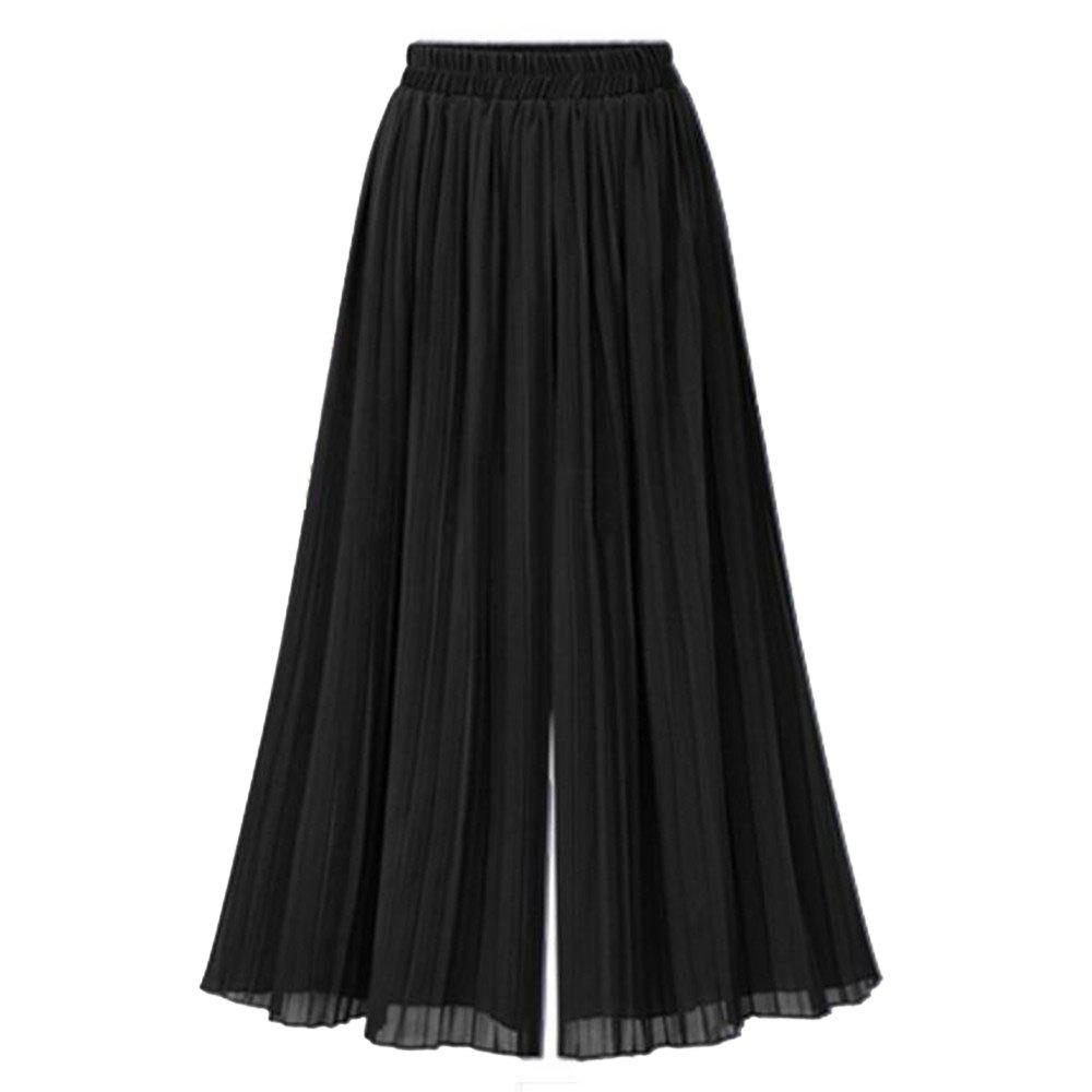 Hot Summer New Plus Size Women's Loose Chiffon Wide Leg Pants