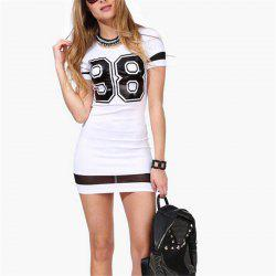 Tee 98 Slim Package Hip Dress Printing Mesh -