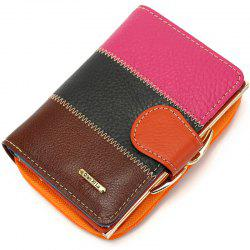 2018 New Brand Design 100% Real Leather Wallets Women Zipper&Hasp Coin Purses Female Vintage Wallet Short Wallets -