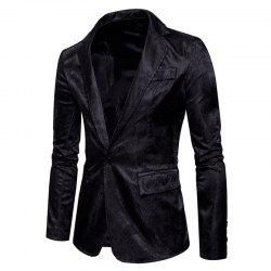 The New Spring Fashion Men Casual Paisley Jacket British Royal Style Suit -