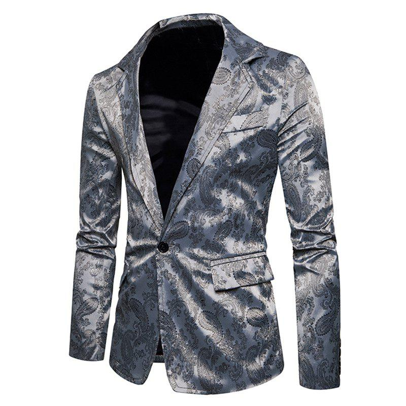 Le nouveau printemps mode hommes Casual Paisley Jacket British Royal Style Suit
