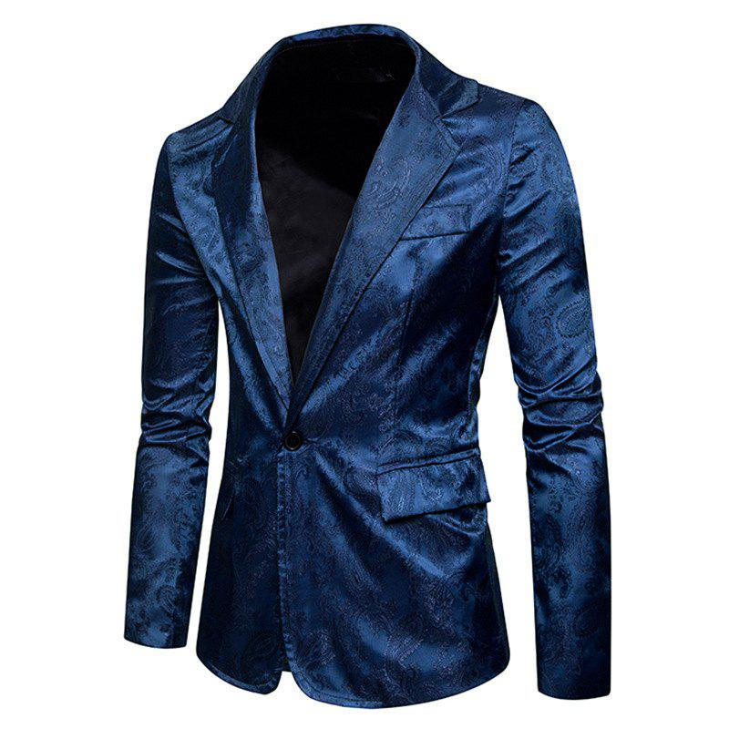 Unique The New Spring Fashion Men Casual Paisley Jacket British Royal Style Suit