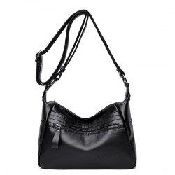 Fashion Large-Capacity Soft Leather Shoulder Messenger Bag -