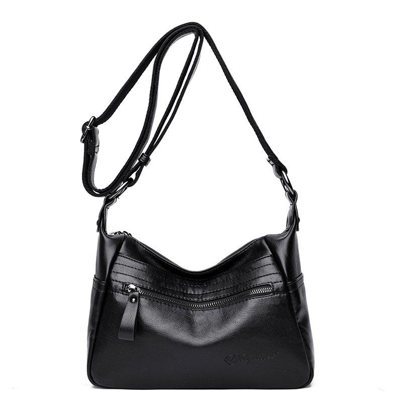 Shop Fashion Large-Capacity Soft Leather Shoulder Messenger Bag