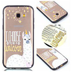 Housse de protection pour Samsung A3 2017 Relievo Alpaca Soft Clear TPU Mobile Smartphone Couverture Shell Case -