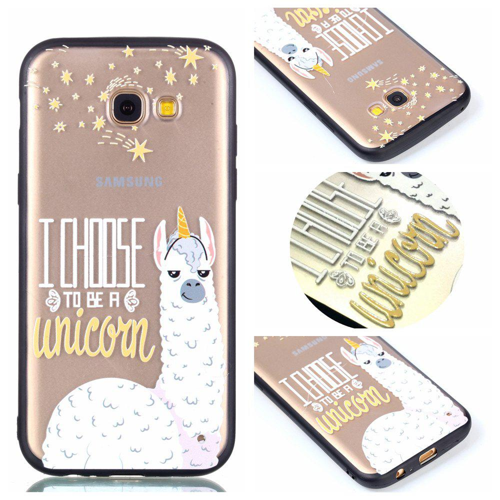 Housse de protection pour Samsung A3 2017 Relievo Alpaca Soft Clear TPU Mobile Smartphone Couverture Shell Case