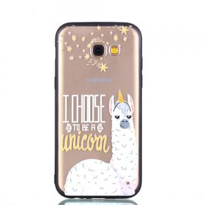 Cover Case for Samsung A5 2017 Relievo Alpaca Soft Clear TPU Mobile Smartphone Cover Shell Case -
