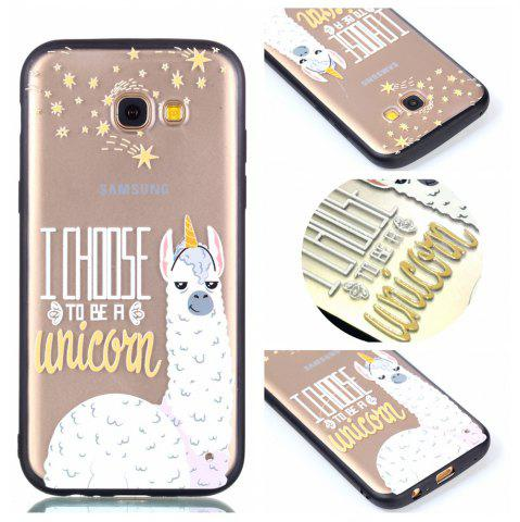 Fashion Cover Case for Samsung A5 2017 Relievo Alpaca Soft Clear TPU Mobile Smartphone Cover Shell Case