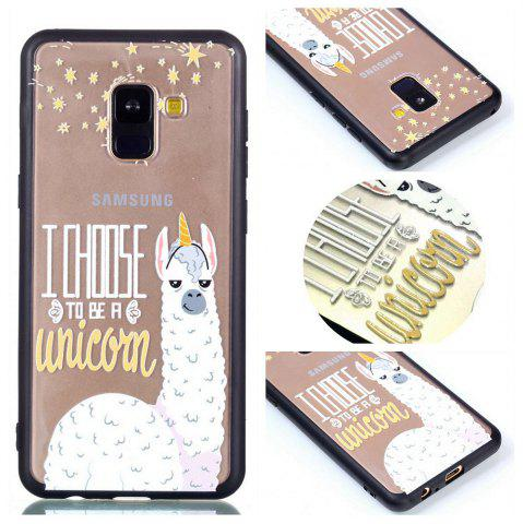 Online Cover Case for Samsung A8 2018 Relievo Alpaca Soft Clear TPU Mobile Smartphone Cover Shell Case