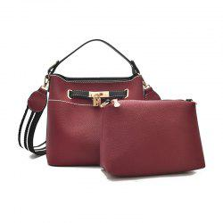 Fashion Hand-Simple Wild Wide Shoulder Strap Messenger Bag -