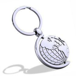 Multi-function Globe Keychain Metal Key Ring Creative Gift -