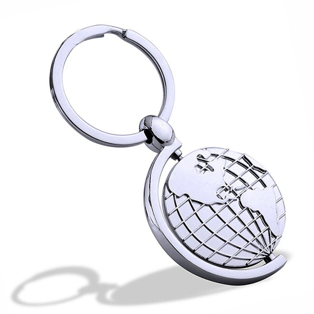 Affordable Multi-function Globe Keychain Metal Key Ring Creative Gift