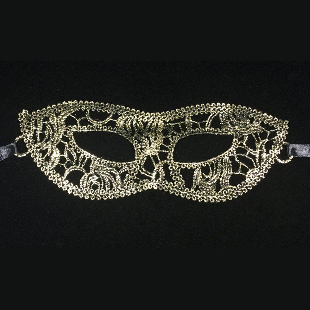 Shop Fashion sexy eye mask prom dress costume ladies gift party lace hot gold flat-head masks