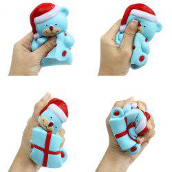 Jumbo Squishy Slow Rising Stress Relief Toy Made by Enviromental PU Replica Cartoon Christmas Bear -