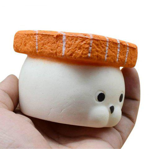 Jumbo Squishy Slow Rising Stress Relief Toy Made by Enviromental PU Replica Лососевая рыба Sushi Seal 9CM Высота