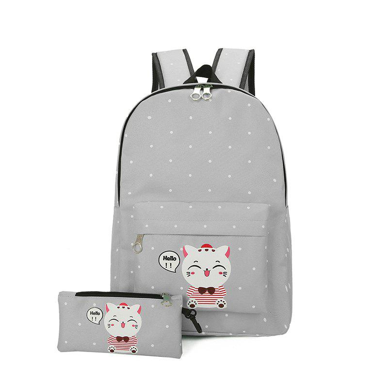 Best Students Canvas Bag School Girl Fresh Junior High School Students  Lovely Backpack Leisure Joker Open 4a40cece7c347